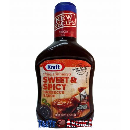Kraft Slow-Simmered Sweet & Spicy Barbecue Sauce 510g