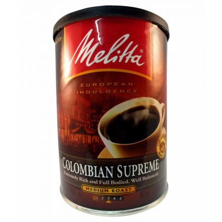 Melitta Colombian Supreme Medium Roast Ground Coffee In A 312g Can
