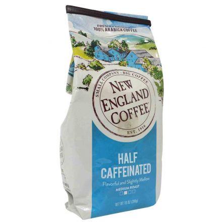 New England Coffee Half Caffeinated Medium Roast Ground Coffee In A 284g Bag