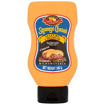 Old Fashioned Foods Mature Cheddar Squeeze Cheese