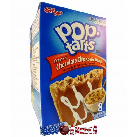 Pop Tarts Frosted Chocolate Chip Cookie Dough Toaster Pastries 8CT 400g