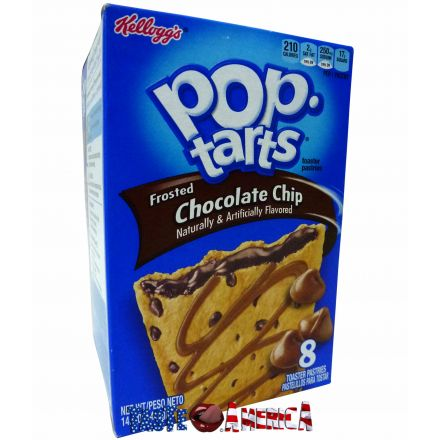 Pop Tarts Frosted Chocolate Chip Toaster Pastries 8CT 416g