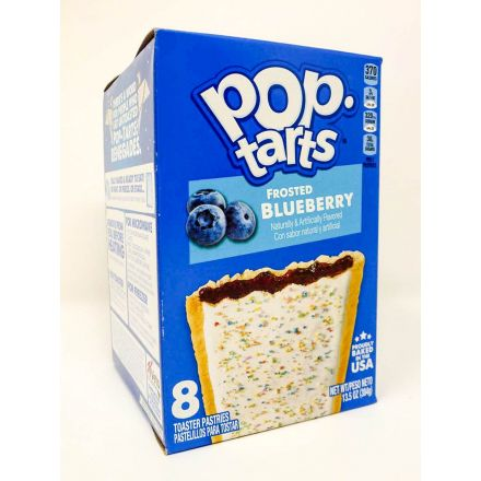 Pop Tarts Frosted Blueberry 8 Toaster Pastries In A 384g Box