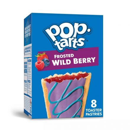 Kelloggs Pop Tarts Frosted Wild Berry 8 Pack In A 384g Box