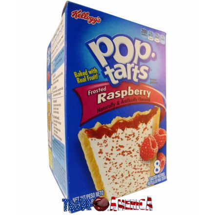 Pop Tarts Frosted Raspberry Toaster Pastries 8ct In A 384g Box