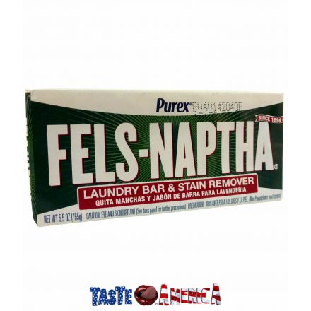 Purex Fels-Naptha Laundry Bar & Stain Remover Soap 155g