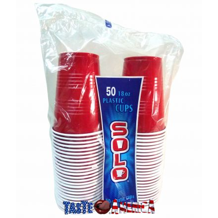 Red Solo Cups - 50 x 18 oz Plastic Cups