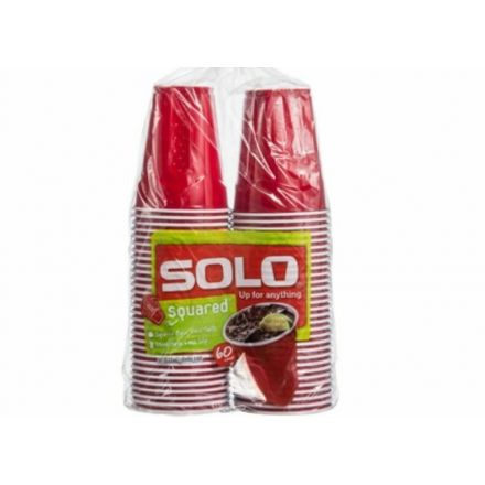 Solo Red Squared Cups 18 oz  - 60 pack