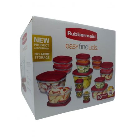 Rubbermaid Easy Find Lids 50 Piece Storage Container Set