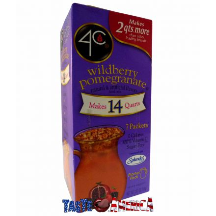 4C Totally Light Wildberry Pomegranate Drink Mix Makes 14 Quarts 56g