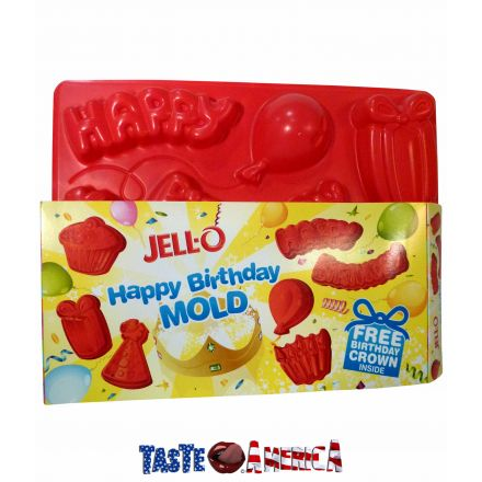 Jell-O Happy Birthday Jigglers Plastic Mold Jelly Mould Sold At Taste America Uk