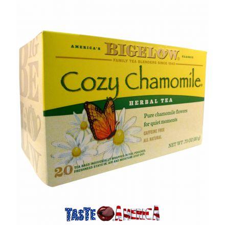 Bigelow Cozy Chamomile Herbal Tea 20 Tea Bags 20g