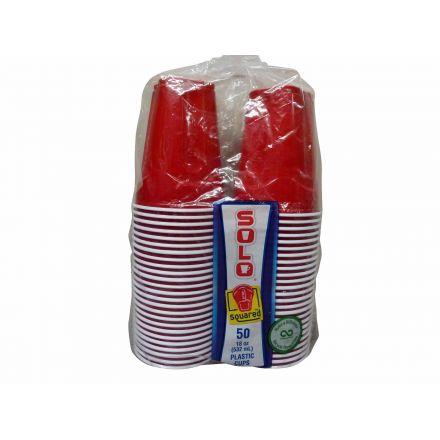 Solo Squared Plastic Cups 18 oz - 50 cups
