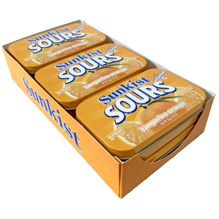 Sunkist Sours Tangerine Orange Flavoured Candy