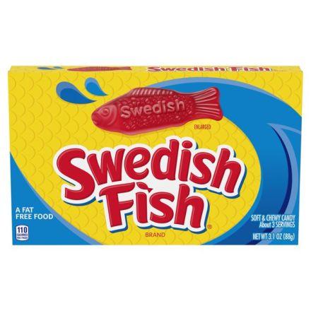 Swedish Fish Original Red Soft & Chewy Candy 88g Box