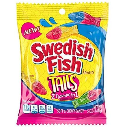 Swedish Fish Tails Chewy Candy 141g Bag