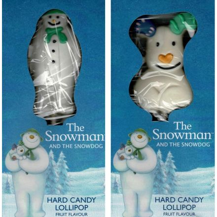The Snowman & The Snowdog Hard Candy Fruit Flavoured Lollipops