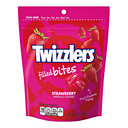 Twizzlers Filled Bites Strawberry Candy 226g