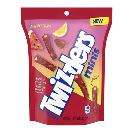 Twizzlers Filled Mini Twists Strawberry Watermelon & Strawberry Lemonade 226g