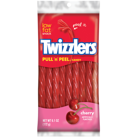 Twizzlers Pull N Peel Cherry Candy 172g